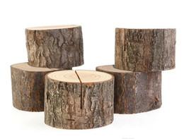 Ko online-Cute Tree Stump Handwerk Platz Kartenhalter Rustikalen Stil Sitzordner Bildclip Hochzeit natürlichen hölzernen dekorieren