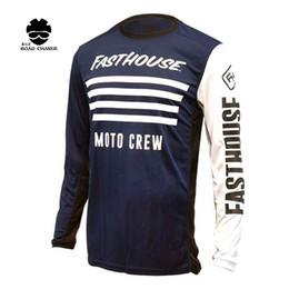 Wholesale Orange Gear - Protective Gears Shirts Tops fasthouse Motocross Jersey Racing Moto Training T-shirt Bike MTB ATV DH MX Cycling Jersey