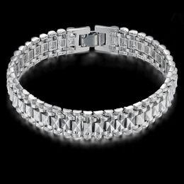 5708ab836f02 2019 colorear gruesos brazaletes Pulseras masculinas de la cadena de la  mano de Chunky para hombre