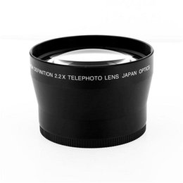 Wholesale hd filters - Professional HD 72mm 2.2x Telephoto Lens + Lens Bag for Canon Nikon Pentax Olympus Any DSLR with 72mm Filter Size Lens thread