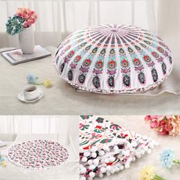 Cubiertas de asientos redondas online-45 cm / 75 cm ronda funda de almohada de felpa sofá del coche asiento cojín estilo europeo para el hogar Hotel DDA720 Pats al aire libre