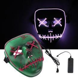 Masque De Fil Light Up Masque Halloween Party Masques De Mascarade Grimace Cosplay Rouge Violet LED Glow in Dark ? partir de fabricateur