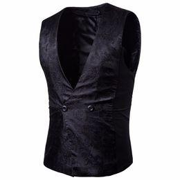 Wholesale Beige Color For Mens Suits - Mens Vests Suit 2017 Sleeveless Male Waistcoat For Vest Waistcoat Wedding Dresses Wedding Classic Colete Masculino Social Blazer