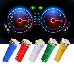 Wholesale 74 Led - Car Interior LED Light T5 74 1 SMD 5050 Dashboard Gauge Bulbs Instrument Lamp 6-Colors DC 12V