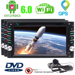 Wholesale Android External Charger - EinCar External Microphone+Android 6.0 Car Stereo In Dash Navigation GPS Car Radio Double Din Vehicle car DVD Player AM FM Radio WiFi