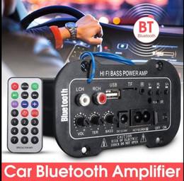 музыкальные усилители Скидка Автомобиль Bluetooth HiFi бас усилитель мощности цифровой авто усилитель стерео USB TF радио аудио MP3 музыка с пультом дистанционного 220 В цифровой усилитель KKA4857
