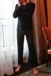 Dessous heiße hose online-Sexy Men 1 Pyjamas Set Wear Pyjamas Nachtwäsche Durchsichtig Loose Mesh Sheer Lounge Pants Erotische Dessous Heißer Verkauf