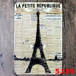 38d31fc91dd81 THE EIFFEL TOWER Metal Sign vintage garage wall art pin up poster pub  restaurant bar sign home decor antique tray