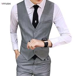 Wholesale Chaleco Slim Fit - YFFUSHI 2017 New Men Vest Multicolor Chaleco Hombre Men Vest For Wedding Business Casual Style Slim Fit S-3XL