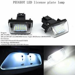 Wholesale Picasso C4 - Super Bright 2PCS lot 12V 18 Led Licence Number Plate Light Bulbs License Light For PEUGEOT 206 207 306 Citroen C3 Picasso C4 5 XSARA SAXO