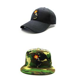 Бомбовые шляпы онлайн-LDSLYJR 2018 мультфильм бомба вышивка хлопок бейсболка хип-хоп cap регулируемая Snapback шляпы для детей и взрослых размер 283