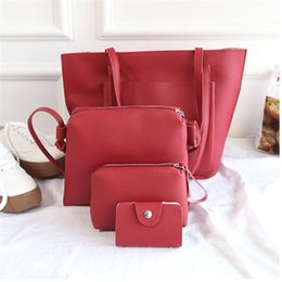f66c0a6635 sacs femme bag Promo Codes - NIBESSER 4 Piece Bag Set Women Large Shoulder  Bags Leather
