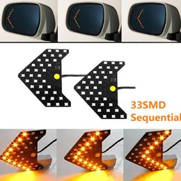 Wholesale Car Front Panel - Yushuangyi 2PCS Lot!! 33 SMD Sequential Led Lights Arrows Lamp Indicator Safe led Panels Car Side Mirror Turn Signal 33 LED