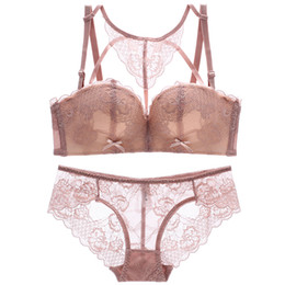 f772be1e7 2018 new sexy beauty back pack young girls lace intimates one-piece  seamless push up women underwear wireless bra lingerie sets