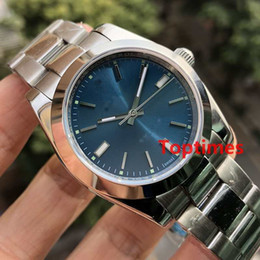 Wholesale Binger Watches - AAA Stainless Steel Gray Blue Dial 114300 Mechanical Automatic Mens Watch Luxury Brand Watches Water Resistant Auto Business 2018 Wristwatch