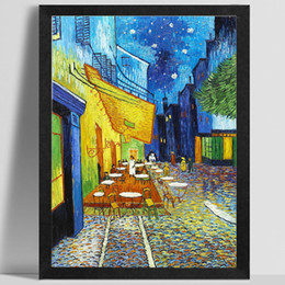 Wholesale Impressionism Arts - AZQSD Cafe Modern Impressionism Vincent Van Gogh Art Print Poster Wall Picture Canvas Oil Painting Restaurant Home Decor PP104