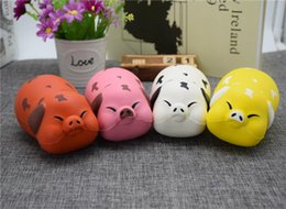 Wholesale Pig Decor - Cute Kawaii Soft Squishy Squishi 12Cm Jumbo Pig Scented Super Slow Rising Kids Toy Cute Stress Reliever Decor Decompression Toys