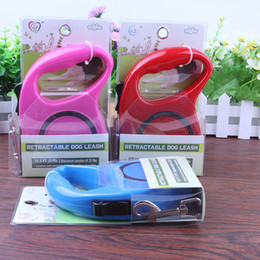 Wholesale retractable leashes for dogs - New Arrivals Dog Leashes Automatic Retractable 5m 3m For Small Dog Extending Traction Multi Colors Pet Activities Safety Collars 10 8lx2 Z