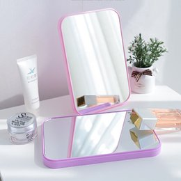 2019 mesas laterais espelhadas atacado 20,5cm x 14cm Espelho de maquiagem - Retângulo Espelhos de papelaria de viagem dobrados - Acessórios de maquiagem Cor de plástico Cor de mistura