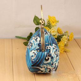 Wholesale Beautiful Chinese Women - 16.5cm femele beautiful handmade handbag material set or finished chinese wave design party