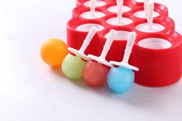 Canada Nouveau Silicone Mini Glaçons Pop Moule À Glace Boule Lolly Maker Moules À Popsicle Avec 9 Autocollants Crèmes Glacées Fabricants Pour L'été wn516 30pc supplier ice cream lolly molds Offre