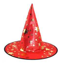 Wholesale Womens Witch Costumes - Halloween Decorative 1Pcs Monolayer Adult Womens Witch Hat For Halloween Costume Accessory Drop shipping