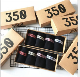 Wholesale Couple Pairs - SPLY 350 V2 Socks Men Women Sports Boat Socks SPLY-350 Boost Cotton Couple Casual Short Low-cut Socks 4 Pairs Box High Quality