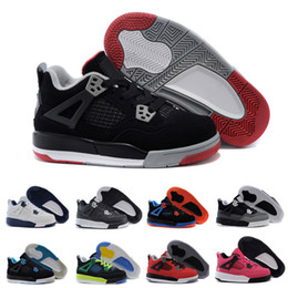 promo code 39807 55352 Nike air Jordan 4 13 retro Kinder 4 Pure Money Basketball Schuhe Herren 4 s  BRED Lizenzfreie Weiß Zement Sport Turnschuhe Motorsport Outdoor Sports  Sneakers