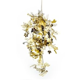 Garland Tangle colgante luces colgante Gold Silver Metal Strand lámpara colgante para sala de estar Bar Lighting Fixtures PL88 desde fabricantes