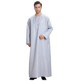 CIBO uomo musulmano stile saudita abito arabo casualmente allentato thobe abaya abito arabo caftano corto camicia manica corta cosplay supplier kaftan style dresses da abiti in stile kaftano fornitori