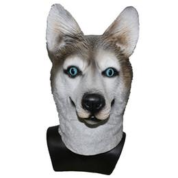 filme animal de festa Desconto 2018 Realistic 3D Filme Vivid Top Vendas Adorável Cão Incrível Máscara Animal De Látex Para Decoração Do Partido Do Dia Das Bruxas