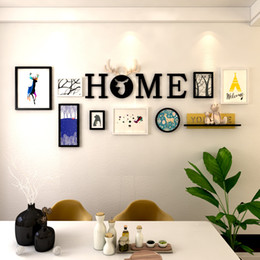 fotos veados Desconto Casa Molduras Minimalismo Moderna Parede Pendurado Pintura Originalidade Foto Moldura Da Foto Cabeça de Veado Composite Photoes Wall Decor 109dm gg