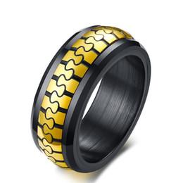 gold ringe besten design Rabatt Persönlichkeit original design mode ring männer schmuck mode edelstahl gold farbe spinner ringe für mans party beste geschenk