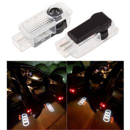 2019 faróis de nevoeiro mazda cx Frete Grátis 2 pçs / set Carro LEVOU Porta de Luz de Luz de Sombra de Laser de Logotipo Luz Bem-vindo levou Para AUDI Q3 Q5 Q7 A3 A4L A6L A7