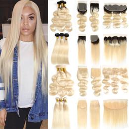 Péruvienne 613 Blonde Cheveux Tisse la Vague de Corps Brésilienne Vierge Cheveux 3 Faisceaux avec Fermeture 1B 613 Faisceaux Droite avec Extensions de Cheveux Frontaux ? partir de fabricateur