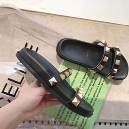 Wholesale Soft Bullet - VT Brand Sandals Cone Bullet Design Original Quality Comfortable Slippers Causal Slide Huaraches Flip Flops Loafers