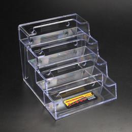 Wholesale Desk For School - Business Card Holder Stand Display Table Desktop Business Card Holder Stand Box for Office Table Desk School *35