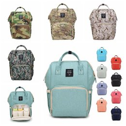 Wholesale Multi Change - 18 Colors New Multifunctional Baby Diaper Backpack Mommy Changing Bag Mummy Backpack Nappy Mother Maternity Backpacks CCA6787 10pcs
