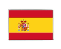 Wholesale Old Collections - Spain National Flag Quality Acrylic Fridge Magnets Exquisite World Tourism Souvenirs Refrigerator Magnetic Stickers Collection