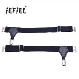 Wholesale Mens Adjustable Belts - iEFiEL 1 Pair Men Adjustable Single Duck-Mouth Clip Sock Garters Belt Mens Suspender Accessories Socks Suspenders