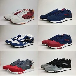 Wholesale Men Boots Shoes Online - Wholesale Online Reebok LX8500 Mens Fashion Running Shoes Mesh uppers Boots Black Red Blue Grey Mixed color Sport Sneakers