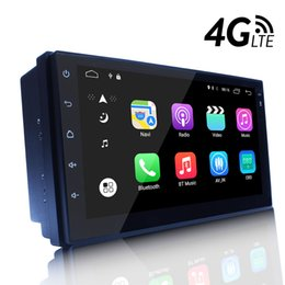 Wholesale Phone Navigation - 4G Wifi Android 6.0 Universal Head-unit 7inch Quad Core 1024*600 Android Car GPS Navigation Multimedia Player Radio Bluetooth DVR Ready