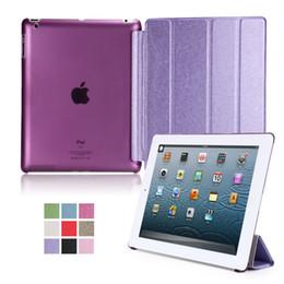 Ultra İnce Manyetik Akıllı Kapak için iPad 234 ipad2 ipad3 ipad4 için PU Deri Tablet Kılıf nereden ipad3 akıllı kutu tedarikçiler