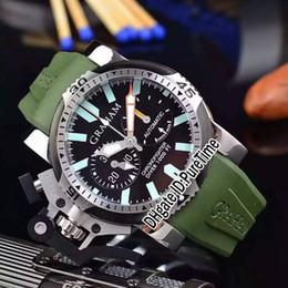 2019 зеленый дайвер смотреть Новый меч 20VEZ негабаритных Diver.B24A.К2 два тона стали черный синий PVD черный циферблат хронограф мужские часы секундомер зеленый резиновый G5b2 дешево зеленый дайвер смотреть