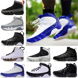 Wholesale blue statue - Cheap NEW 9 Anthracite black Copper Statue Baron Charcoal Johnny Kilroy blue Mens basketball shoes 9s IX Sneaker designer Shoes size US 7-13