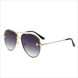 Óculos de pentagrama on-line-Vintage Oval Óculos De Sol Das Mulheres 2018 Marca Designer Pentagrama Óculos De Sol Dos Homens Ponte Dupla Armação De Metal Oculos
