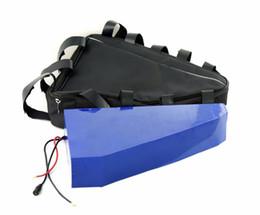 Bicicletas personalizadas online-Sin servicio de personalización Personalizar 48V 20Ah Bolsa triángulo Batería de iones de litio Para E-bike 1000W con cargador 2A + bolsa triángulo