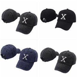 Wholesale baseball caps embroidered logo - 3 Colors X Logo Hat X Logo Letter Embroidered Baseball Cap Adjustable Strapback Hats X Logo Ball Caps CCA9227 5pcs