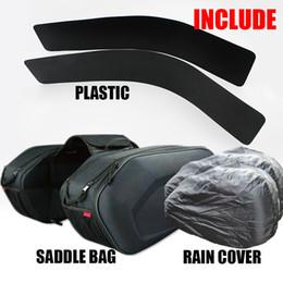 Wholesale motorcycle cover plastic - 2018 SA212 Motorcycle Waterproof Saddle bags Racing Moto Helmet Bags Travel Luggage saddlebags +one pair rain cover and plastics