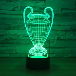 luci fiabesche animali Sconti Trophy Cup Wards 3D Optical Illusion Lampada Night Light DC 5V USB Alimentato AA Battery Dropshipping Wholesale Shippin